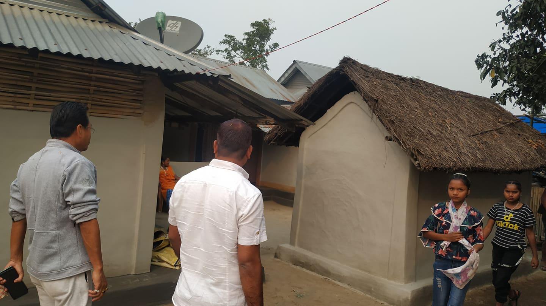 सन्थाल समुदायको घर संरक्षणमा मेयर फागोको चासो